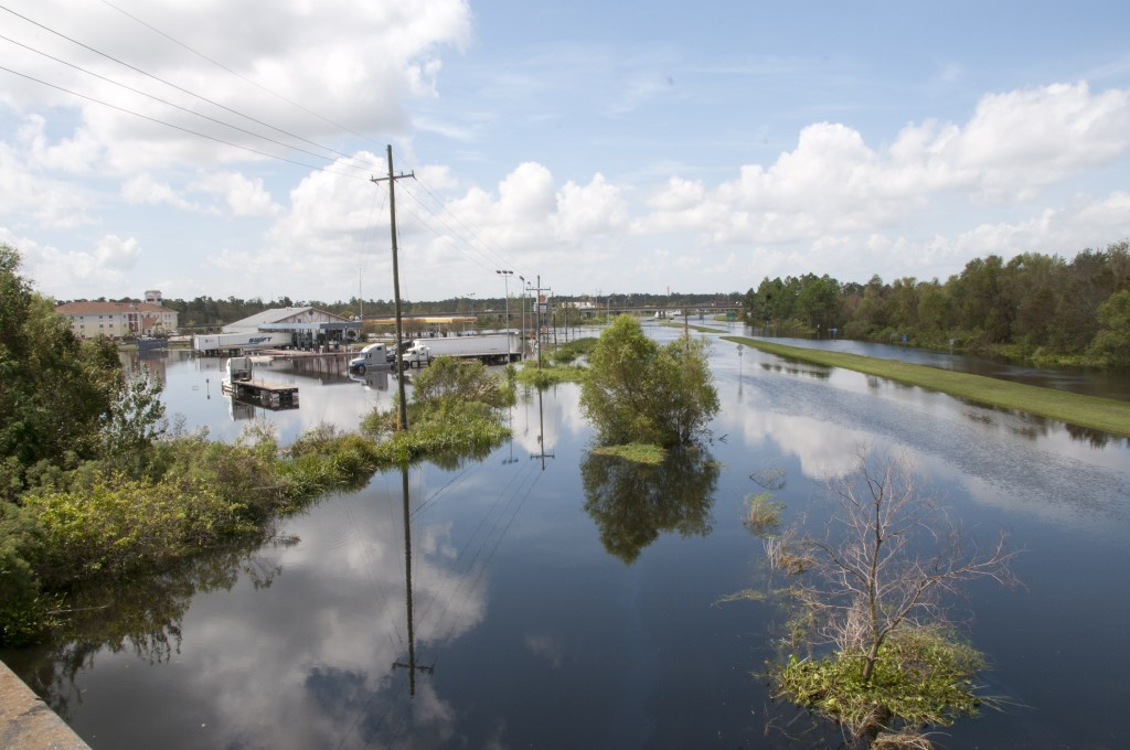 Flood waters in LaPlace, La. after Hurricane Isaac passed through the area. FEMA News Photo