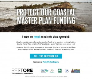 Ad - Protect our coastal master plan funding
