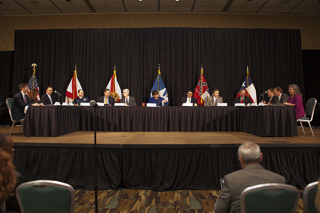The RESTORE Council meeting in Biloxi, Miss. Dec. 9, 2015. Credit: Robert Smith/Wildlife Mississippi