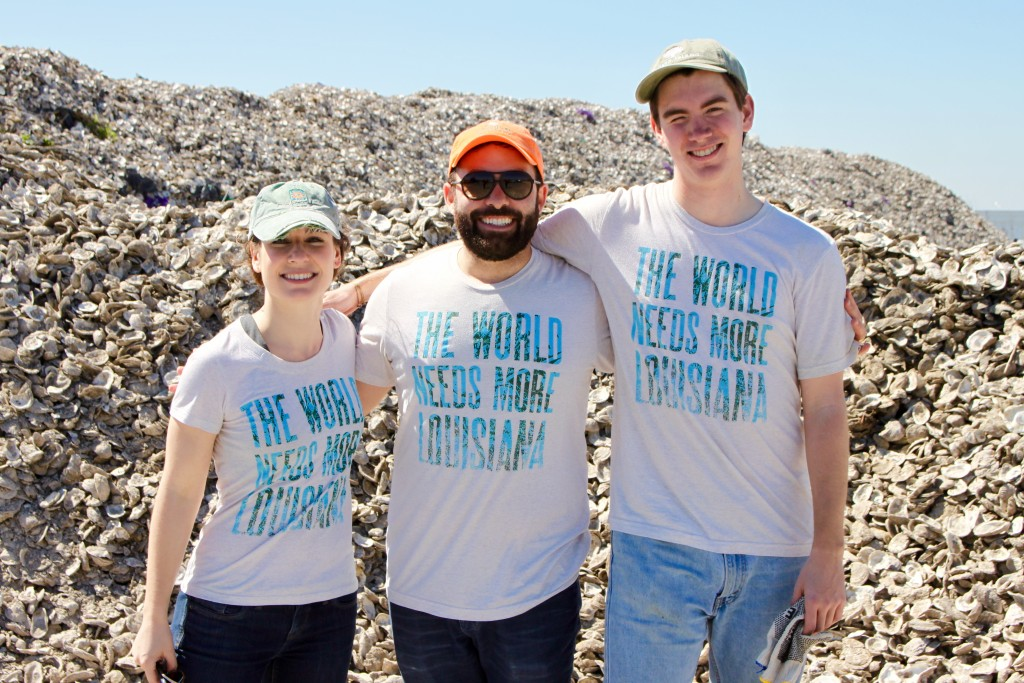 MRD Team wearing Screens for Good Tshirts - Restore the Mississippi River Delta