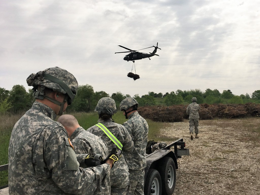 Louisiana National Guard trains with the Blackhawk Helicopters.