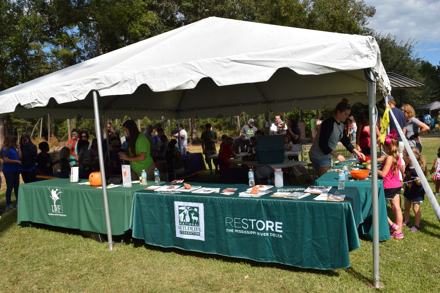 National Wildlife Federation and Louisiana Wildlife Federation tables and activities at the Bayou Lacombe Center during & Looking Back at the 19th Annual Wild Things Festival | Oct. 15 2016