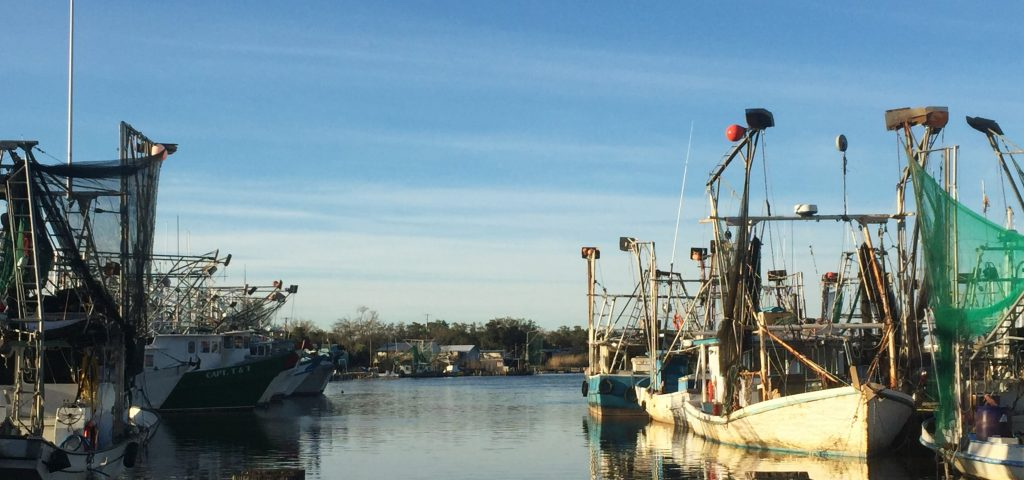 Coastal restoration is essential to the future of fishing communities, like this one in Dulac. Credit: Estelle Robichaux