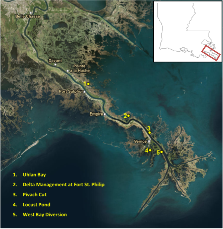 5 Places in Plaquemines Parish Building Land Because of the Mississippi River