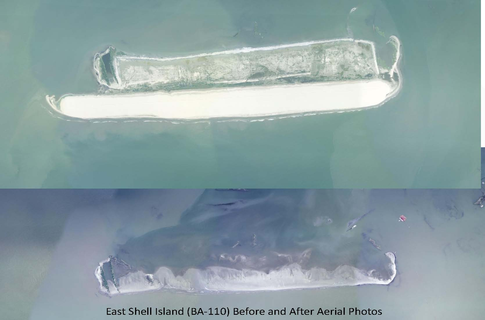 East Shell Island before after